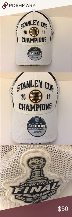 Bruins 2011 Stanley Cup Champ Locker Room Hat Boston Bruins 2011 Champions Stanley Cup Champions Locker Room Hat.  Never Worn.  Still has stickers and cardboard.  Comes from a smoke free/pet free home. Reebok Accessories Hats