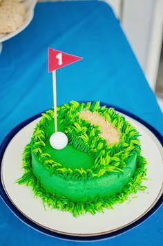 Golf Themed First Birthday Cake  www.styleyoursenses.com