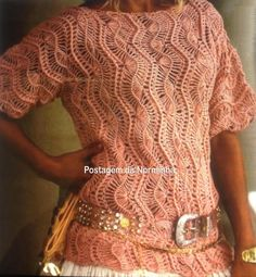 Website with several hairpin lace ideas. Site in Portuguese. Crochet Poncho With Sleeves, Crochet Blouse, Knit Crochet, Crochet Gratis, Crochet Summer Tops, Summer Knitting, Hairpin Lace Crochet, Thread Crochet, Crochet Stitches