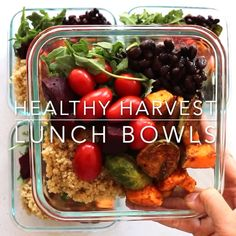 Take your lunch up a notch with these EASY #plantbased #mealprep lunch bowls! So customizable and a delicious honey dijon dressing!