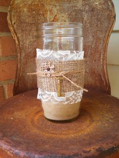 Darling Antique Key Mason Jar! by ToastyBarkerBoutique on Etsy
