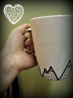 DIY: Sharpie mugs - much better than those pottery painting places...