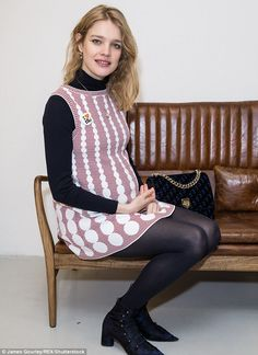 Pregnant Natalia Vodianova proudly displays her burgeoning baby bump