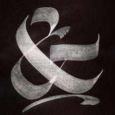 Ampersand #berliner #fraktur http://www.myfonts.com/fonts/resistenza/berliner-fraktur/ #calligraphy