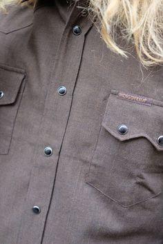 Indigofera Dollard Shirt Japanese Pepita Brown/Black Chef Jackets, Japanese, Brown, Shirts, Clothes, Black, Fashion, Outfits, Moda