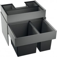 in-drawer under-counter recycling