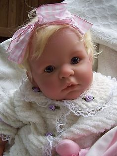 Reborn OOAK Berenguer Blonde Hair Baby Girl, Gorgeous Chenille Outfit *Adorable!