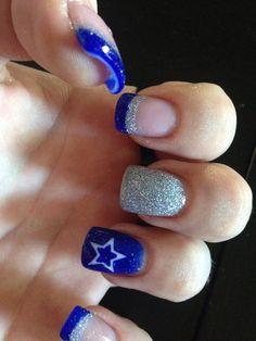 Dallas Cowboys Finger Nail Tattoos