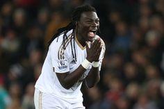 Bafetimbi Gomis in the 1-0 loss against Stoke