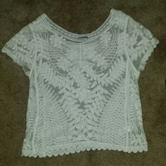 Express - lace top Worn twice - great for layering - super pretty - no seen/known issues/imperfections Express Tops Blouses