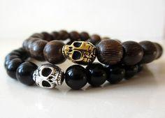 mens skull bracelets.