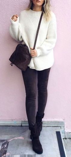 24 stunning fall outfits to beautify your style 4 Trendy Summer Outfits, Cozy Winter Outfits, New Outfits, Spring Outfits, Casual Outfits, Fashion Outfits, Womens Fashion, Grey Fur Coat, Winter Baby Clothes