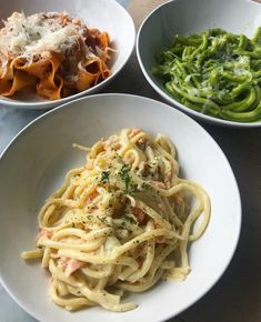 Amazing pasta at 🍝🙏🏼 smoked salmon carbonara, basil pesto casarecce and slow cooked béchamel bolognese pappardelle I Love Food, Good Food, Yummy Food, London Food, Food Goals, Aesthetic Food, Food Cravings, Food Inspiration, Italian Recipes