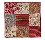 Georgia Patchwork Sham, Euro, Red