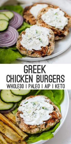 Healthy dinner recipes 720505640372711992 - Greek Chicken Burgers (Paleo, Keto, AIP) – Unbound Wellness Source by thathealthbabe Clean Eating Recipes For Dinner, Clean Eating Snacks, Healthy Dinner Recipes, Healthy Eating, Greek Food Recipes, Greek Chicken Recipes, Paleo Recipes Dinner Chicken, Apple Recipes Dinner, Healthy Dinners For Two