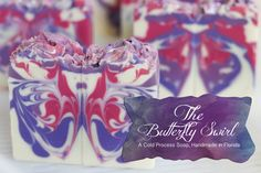 Man, this is gorgeous! The Butterfly Swirl Cold Process Soap, Handmade in Florida