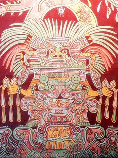 the great goddess Teotihuacan - obviously not human. What was she? She looks like the costumes tribal people wear in some parts Earth. What being are they remembering?