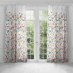 Voyage Samarinda Violet Lined Pencil Pleat Heading Curtains