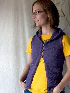 tricksy knitter hooded sweater vest knitting pattern. more shameless self-promotion.