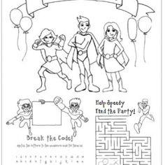 Super Hero Birthday Coloring Page