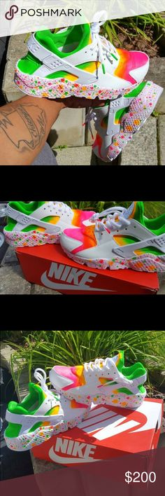 Custom HUARACHES Custom crafted by myself, A LOT cheaper through ️️, prices different for kids sizes, fast service, brand new, multiple sizes. Want a different color? Let me know and I can do it, I have multiple colors. Nike Shoes Sneakers