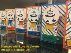 Stampin'Up! SAB stamp set Party Pandas. Aren't they sweet?! You can get this stamp set for FREE!