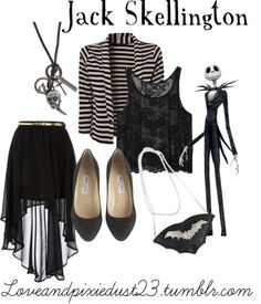 Jack Skellington by loveandpixiedust featuring a black skirt