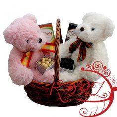 Teddy Bear Picnic Basket to Botswana - http://www.247babygifts.net/teddy-bear-picnic-basket-to-botswana/