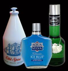 Old Spice, Ice blue aqua velva, Brut Cologne ................D
