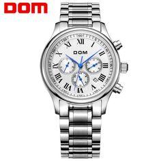 59.90$  Watch now - http://alidsy.worldwells.pw/go.php?t=32773077434 - DOM men watches top brand luxury watch waterproof mechanical watch leather watch Business reloj hombre marca de lujo M-56 59.90$
