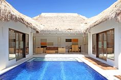 Seminyak has a huge range of accommodation options to suit all budgets but none are as popular as its growing selection of beautiful villas. Here are our top 5 reasons why. Pool House Plans, Small House Plans, Villa Design, Small Villa, Small Beach Houses, Minimalist House Design, Beautiful Villas, House Layouts, Pool Houses