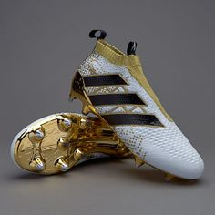 View and buy the adidas ACE Purecontrol SG - White/Core Black/Gold Metallic adidas Ace at Pro:Direct SOCCER. Adidas Soccer Boots, Adidas Football Cleats, Girls Soccer Cleats, Adidas Cleats, Football Shoes, Nike Soccer, White Football Boots, Best Soccer Shoes, Football Accessories