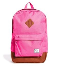 Shop the latest Herschel Heritage Mid Volume Backpack Exclusive to ASOS trends with ASOS! Free delivery and returns (Ts&Cs apply), order today! Asos, Herschel Heritage Backpack, Shoe Bag, Latest Clothes, Stuff To Buy, Accessories, Online Shopping, Pink, Women