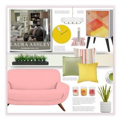 """""""Laura Ashley Modern Home"""" by fassionista ❤ liked on Polyvore featuring interior, interiors, interior design, home, home decor, interior decorating, Manhattan Comfort, Laura Ashley, Seaspray and Vintage"""