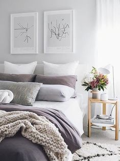 and White Bedroom Ideas New Grey White Purple Bedroom New 41 Awesome Purple. and White Bedroom Ideas New Grey White Purple Bedroom New 41 Awesome Purple. Abstract Geometric Lines Female Shapes Canvas Trendy Bedroom, Modern Bedroom, Bedroom Vintage, Purple Master Bedroom, Purple Bedroom Accents, Bedroom Ideas Purple, Bedroom Neutral, Contemporary Bedroom, Purple Home Decor