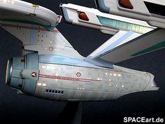 Star Trek: U.S.S. Enterprise NCC-1701 (mit Beleuchtung), Modell-Bausatz, http://spaceart.de/produkte/st047.php