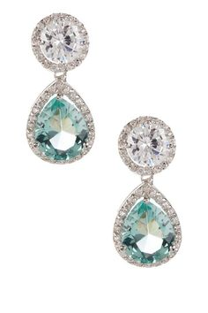 "I love the contrast between the clear ""diamonds"" and the sea green stone in the middle."