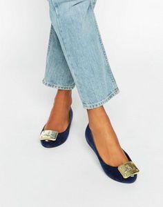 Vivienne Westwood for Melissa Ultragirl Plaque Flock Flat Shoes