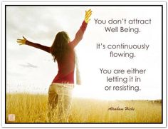 You are either letting it in or......