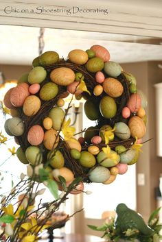 Easter Eye Candy, No Calories! by Chic on a Shoestring Decorating. Easter and Spring Decor.