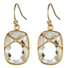 Crystal Quartz Criss Cross Drops #earrings #jewelry