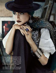 Karlina Caune for Vogue Germany