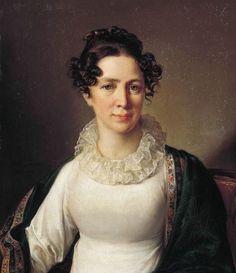 Vasily Tropinin - Portrait of Vatopinin the Artist's Sister
