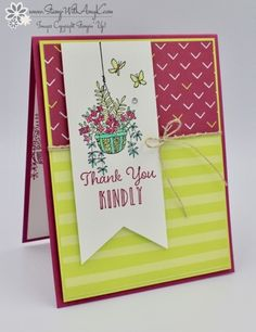 Stampin' Up! Hanging Garden Thank You Card for Fab Friday – Stamp With Amy K