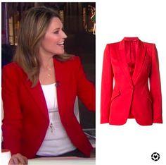 Jenna Bush Hager, Savannah Guthrie, Hoda Kotb, Red Blazer, Today Show, Savannah Chat, Chic, Clothing, Jackets