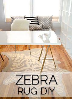 The Infamous Faux Zebra Rug DIY