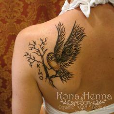 Organic Henna Products.  Professional Henna Studio. KonaHenna.com #owl #pueo