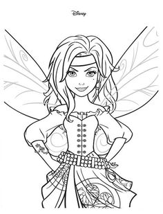 fairy coloring pages coloring books printable coloring pages kids colouring adult coloring pirate fairy the pirate disney movies disney s