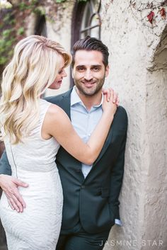 Los Angeles Home Engagement : Danielle and Randy - Jasmine Star Blog What a gorgeous couple