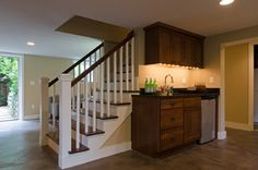 Lincoln Park Basment - traditional - basement - seattle - by Potter Construction Inc